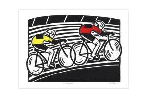 hugh-ribbans-velodrome-bicycle-greeting-card