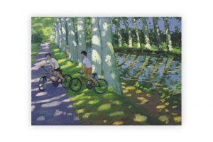 canal-du-midi-bicycle-greeting-card