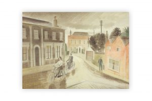 village-street-1936-bicycle-greeting-card