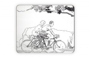 cyclemiles-black-and-white-vintage-bicycle-placemat