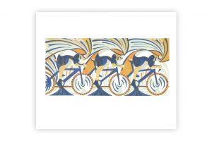 paul-cleden-rouround-wheels-bicycle-greeting-card-paul-cledennd-wheels-bicycle-greeting-card