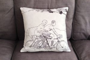 cyclemiles-black-and-white-vintage-bicycle-cushion