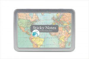 vintage-map-sticky-note-set