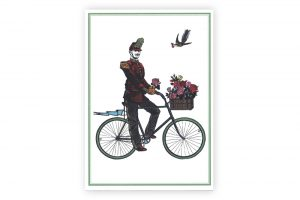 flower-cyclist-bicycle-greeting-card