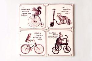 animal-bicycle-coaster-set