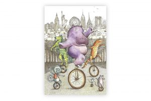 hippo-on-a-unicycle-greeting-card