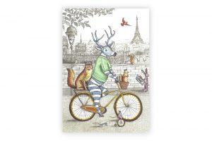 stag-on-a-bicycle-greeting-card