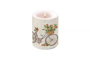 robin-on-a-bicycle-candle