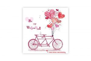 be-my-valentine-bicycle-napkins