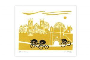 york-tour-bicycle-greeting-card
