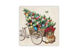 christmas-bicycle-napkins