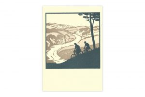 touring-cyclists-bicycle-greeting-card