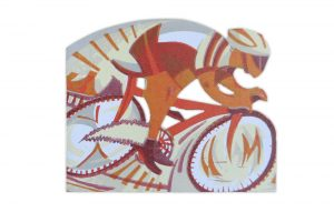 in-pursuit-bicycle-greeting-card-by-paul-cleden