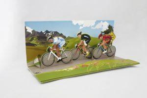 triple-racing-cyclists-pop-up-greeting-card