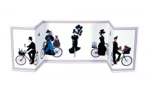 Cycling-Procession-Fold-out-Bicycle-Greeting-Card