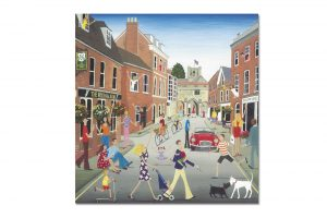 the-wykeham-arms-winchester-bicycle-greeting-card