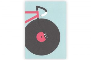 track-bicycle-greeting-card