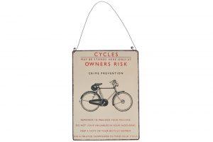 remember-to-padlock-your-machine-metal-bicycle-sign
