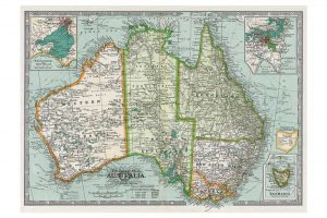 map-of-australia-wrapping-paper