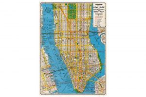 map-of-new-york-wrapping-paper