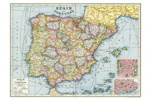 map-of-spain-wrapping-paper