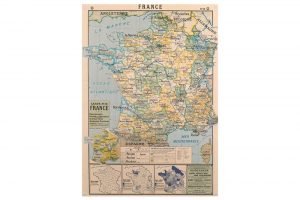 map-of-france-wrapping-paper